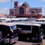 Imagem referencial: ônibus no estacionamento do Santuário Nacional de Aparecida
